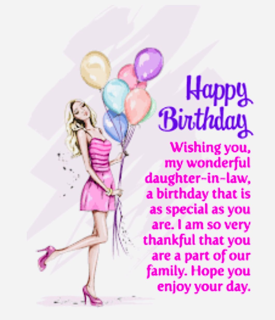 Pin by Dympna Reidy on Daughter in law birthday Happy