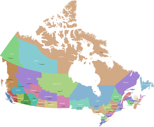 New Zealand Provinces Map.Concept Map For Redrawn Canadian Provinces Related The 36 Provinces
