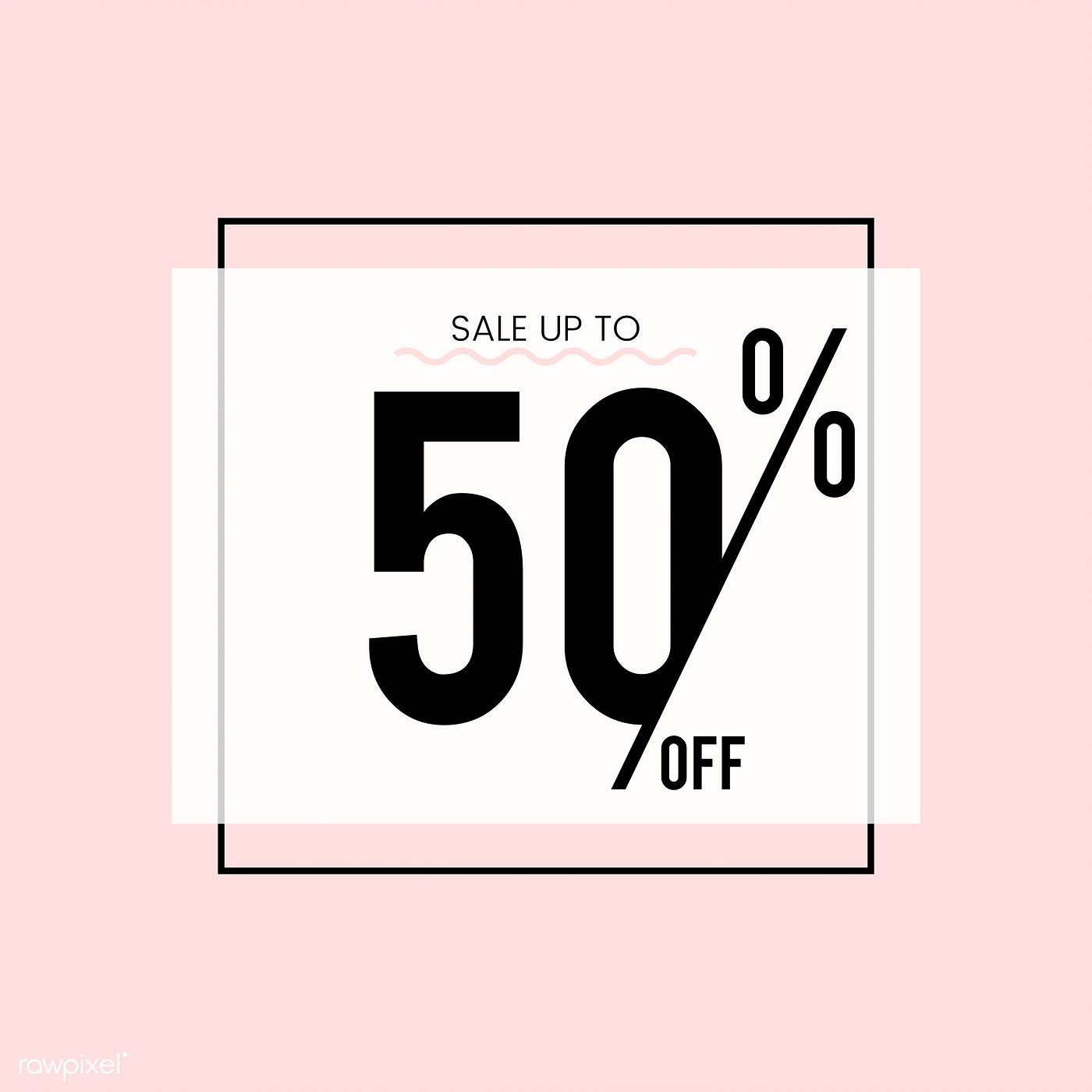 Sale Up To 50 Off Vector Free Image By Rawpixel Com Desain
