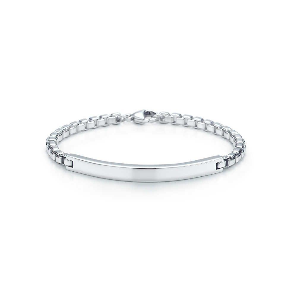 Venetian Link I D Men S Bracelet In Sterling Silver Tiffany Co