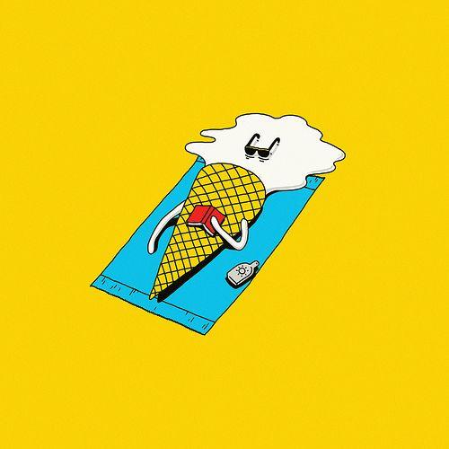 Hot Summer Cizimler Cizim Illustration