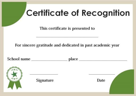 certificate of recognition for honor students template certificate