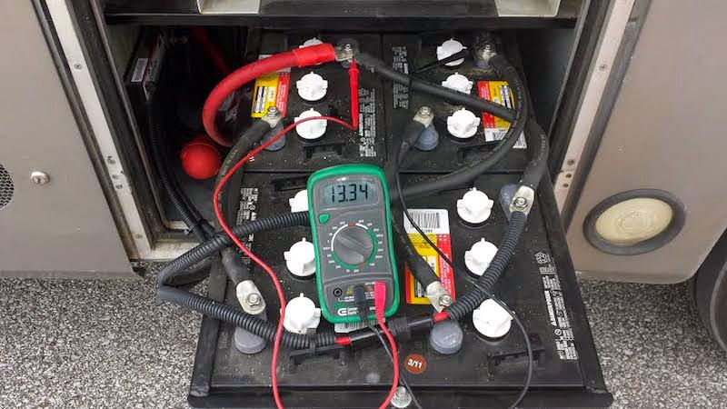 how to perform open voltage testing on your rv batteries rv rv rh pinterest com Rockwood RV Battery Wiring 12V RV Battery Wiring Diagram