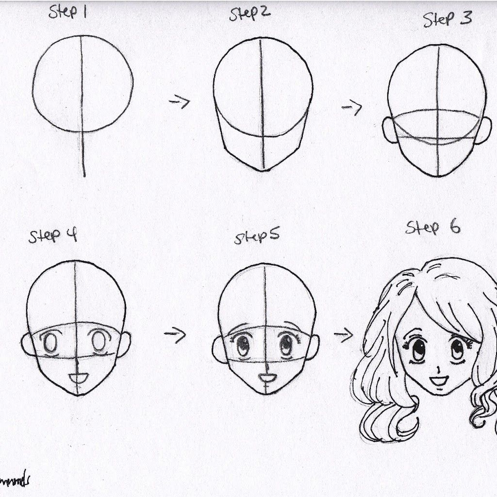 Anime Drawings Step By Step For Beginners How To Draw Anime Characters Step By Step For Begi Anime Face Drawing Anime Drawings Tutorials How To Draw Anime Eyes
