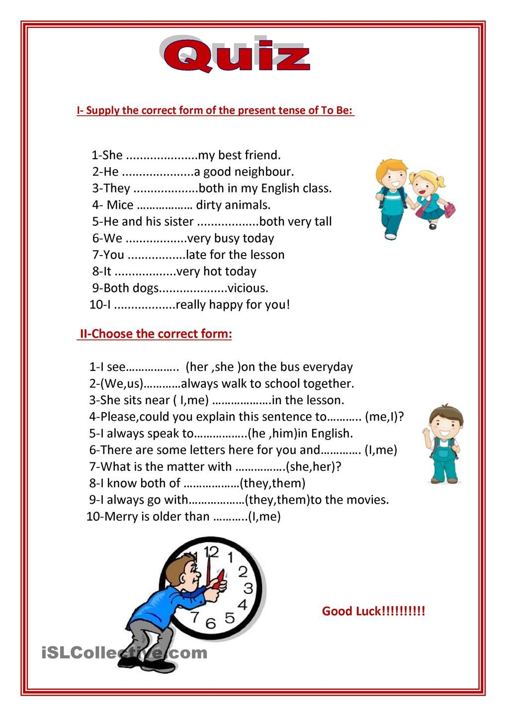 worksheet Esl Subject Pronouns Worksheet to be in simple present subject pronouns and object worksheet free esl printable worksheets made by teachers