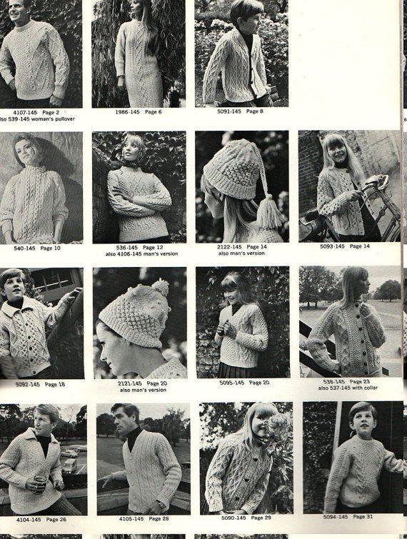 The Bernat Book Of Irish Knits In Blarney Spun Yarn From Etsy Vintage Knitting Knitting Magazine Vintage Knitting Patterns