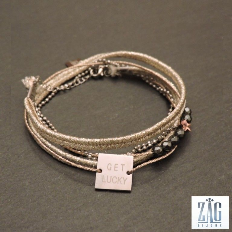 Bracelet ruban lucky