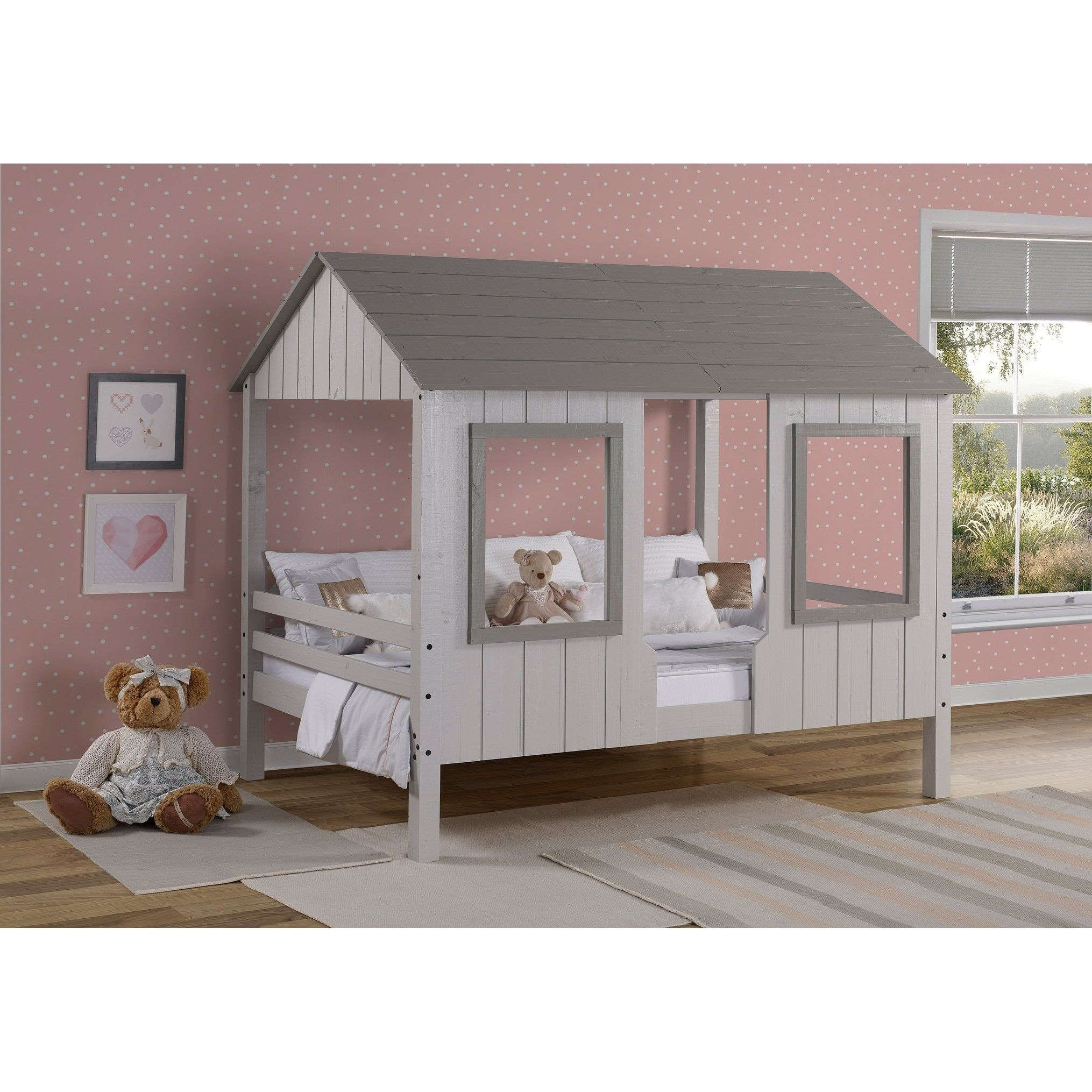 Full House Low Loft in Grey Two Tone (Full), Gray, Donco