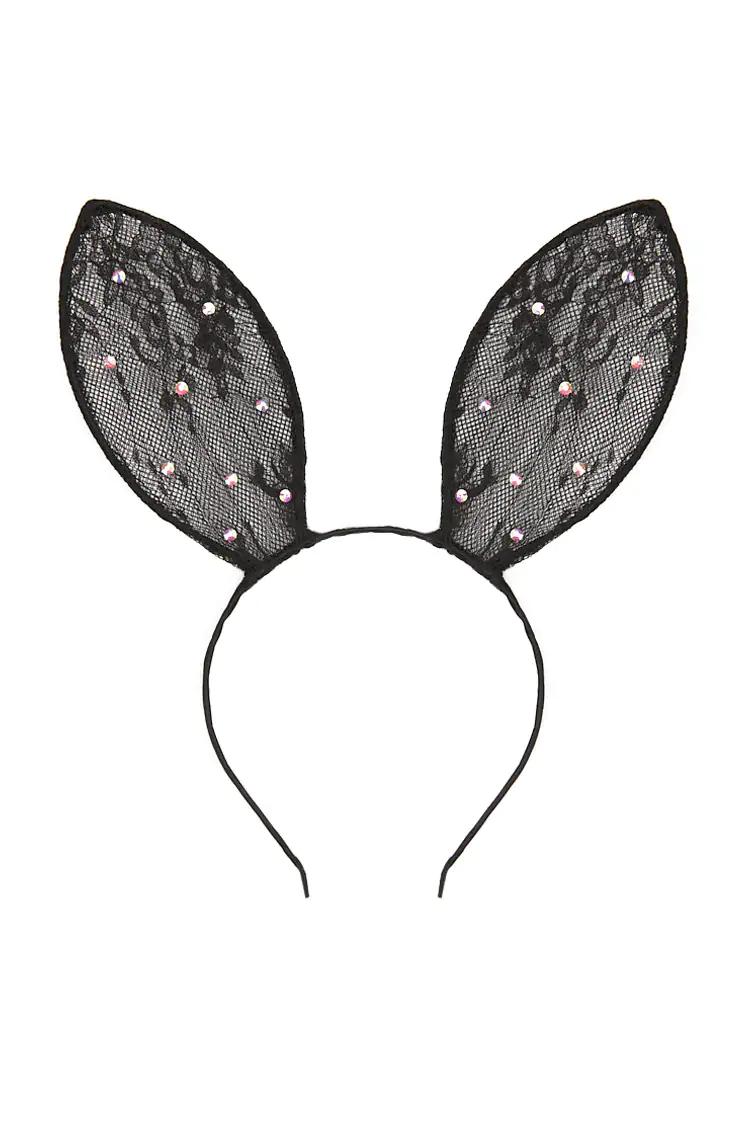 Embellished Lace Bunny Ear Headband Forever 21 Lace Bunny Ears Bunny Ears Headband Ear Headbands