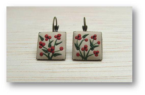 Floral Jewelry  papavero fiore gioielli floreale di Floraljewel