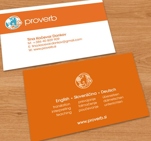 Proverb Business Card With Images Business Cards Creative