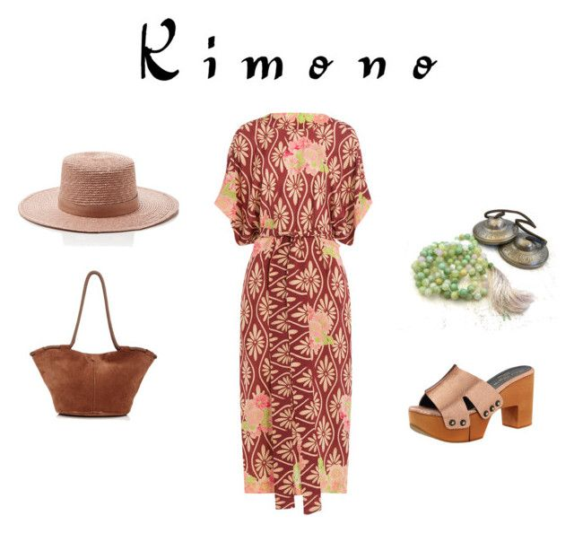"""Kimono Contest"" by tomato88 ❤ liked on Polyvore featuring Janessa Leone, The Row, Robert Clergerie, Simone Rocha and kimonos"