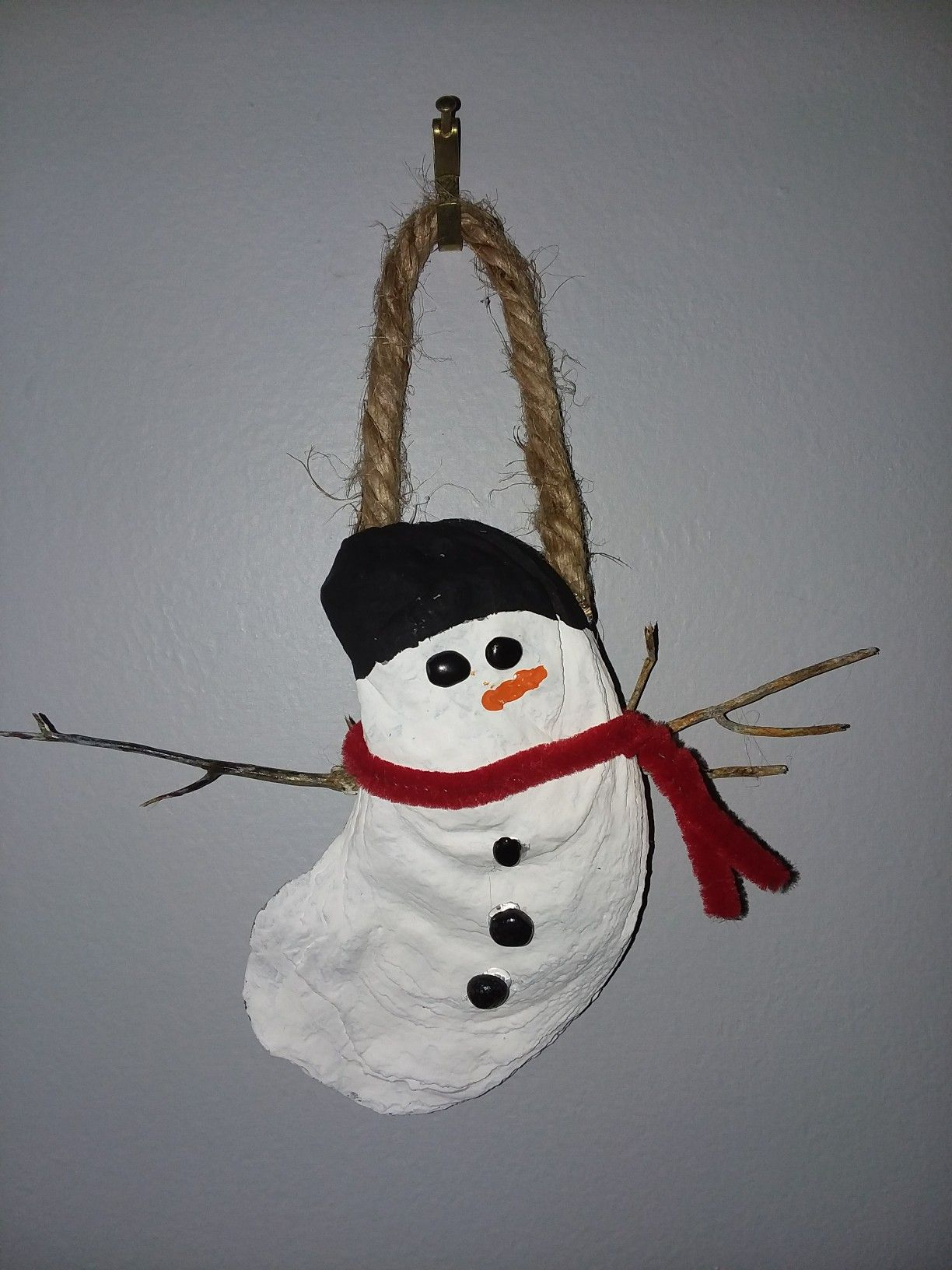 Seashell snowman (With images) Christmas decorations