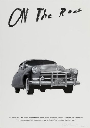 Ed Ruscha - On the Road: An Artist Book of the Classic Novel by Jack Kerouac Limited Edition Poster (B) - Gagosian Gallery