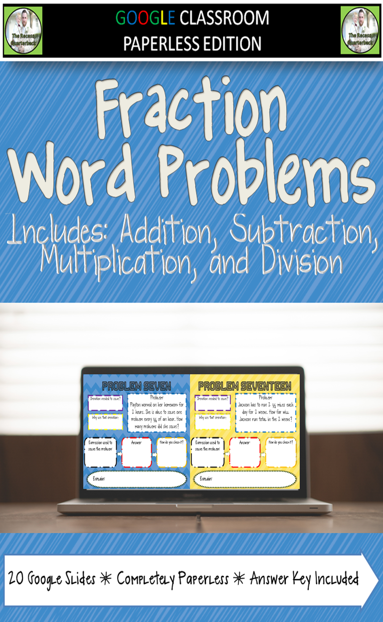Fraction Word Problems for Google Classroom- Are your students ...