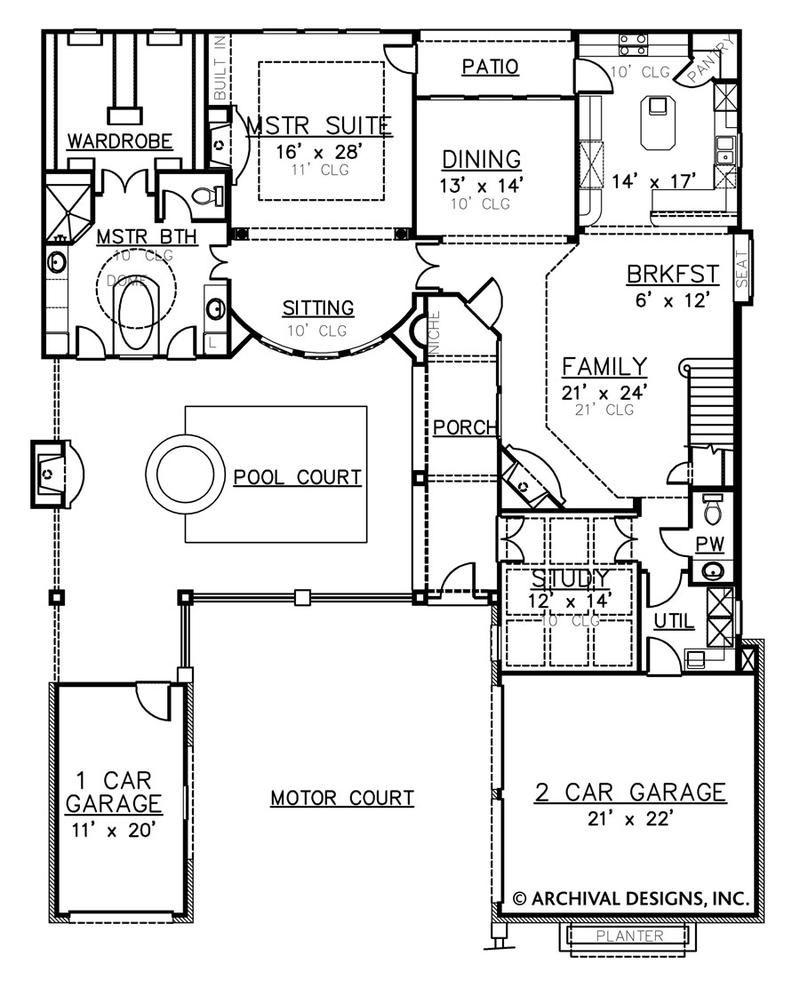 Villa Palladian House Plan House Plans Luxury House Plans Two Story House Plans