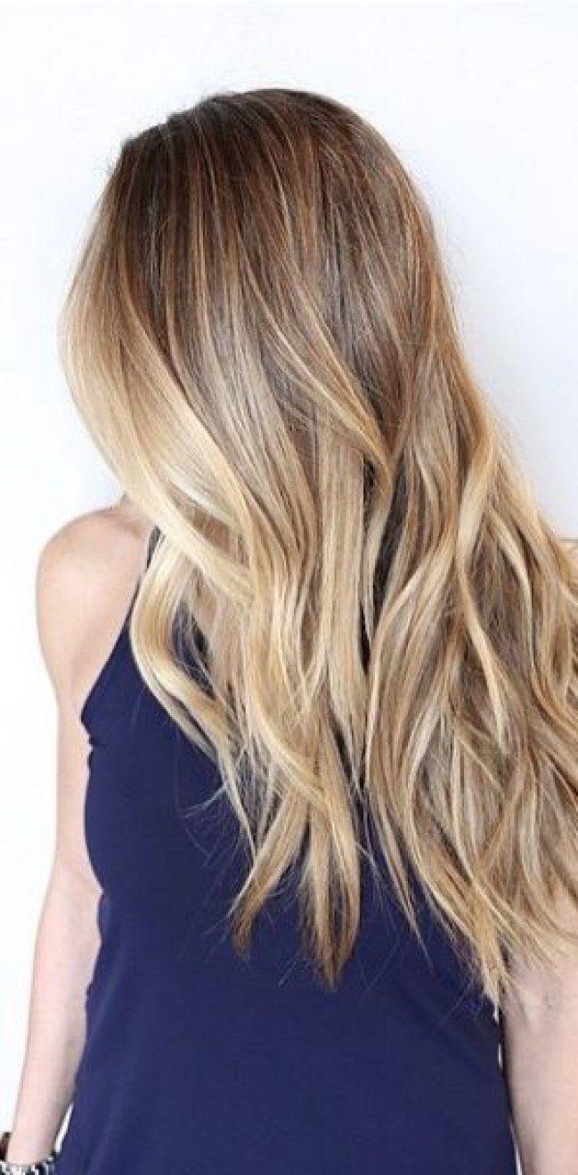 Die 18 besten Ideen zu ombre blond braun   haarschnitt, frisur ...
