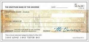 my blank check