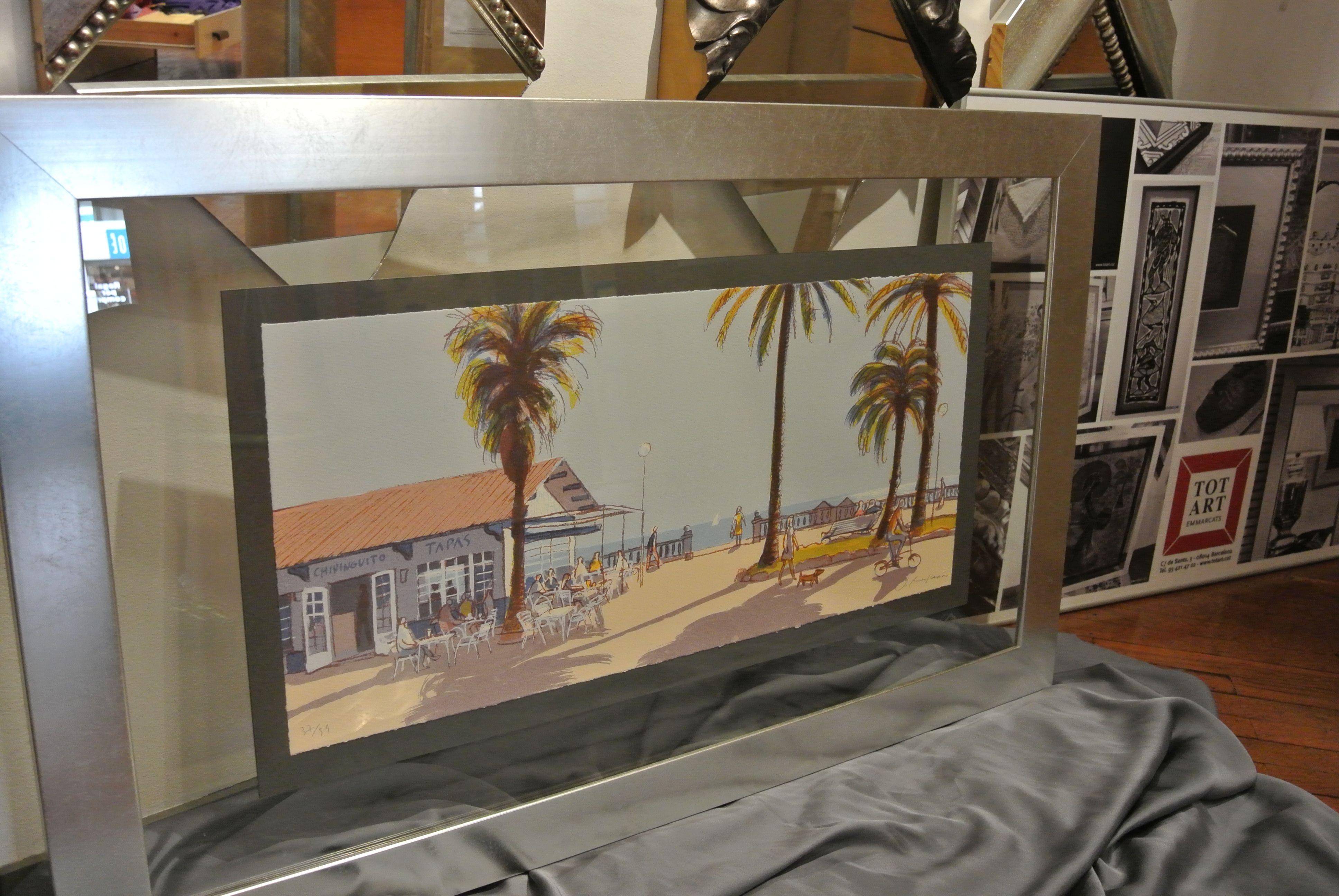 marco plateado para #enmarcación en #doble cristal | Marcos y ...