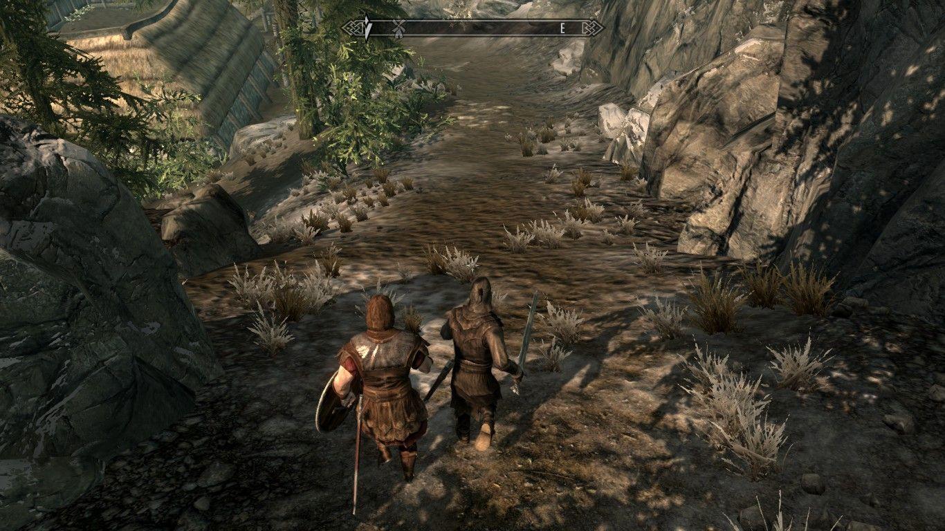 Hadvar took an alternate path to riverwood  #games #Skyrim
