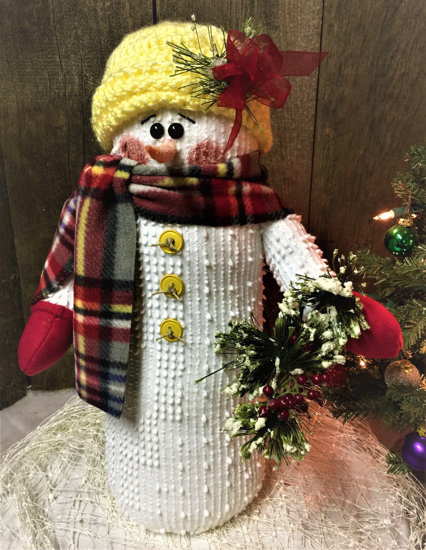 Snowmen Annie Snowman Stuffed Snowman Holiday Decor Christmas Table Decor Christmas Decoration Christmas Decor Stuffe Chenille Crafts Handmade Crafts