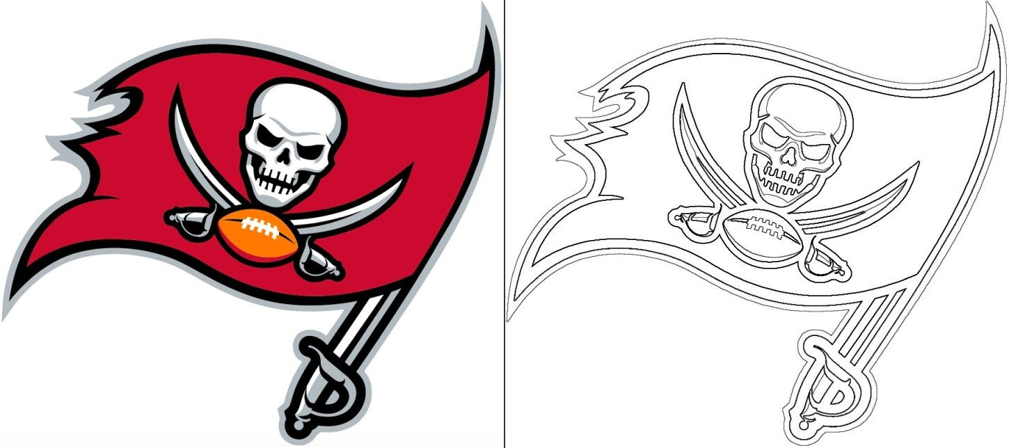 Buccaneers Logo Coloring Page In 2020 Atlanta Falcons Logo Denver Broncos Logo Houston Texans Logo