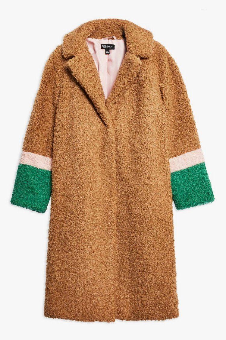 attractive price presenting presenting Topshop colour block teddy coat | Teddy coat, Coat, Coat trends