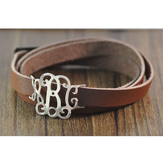 Whole Custom Monogram Bracelet Personalized Leather Alloy Charm Sports Style Man S Jewerly On Etsy 12 99
