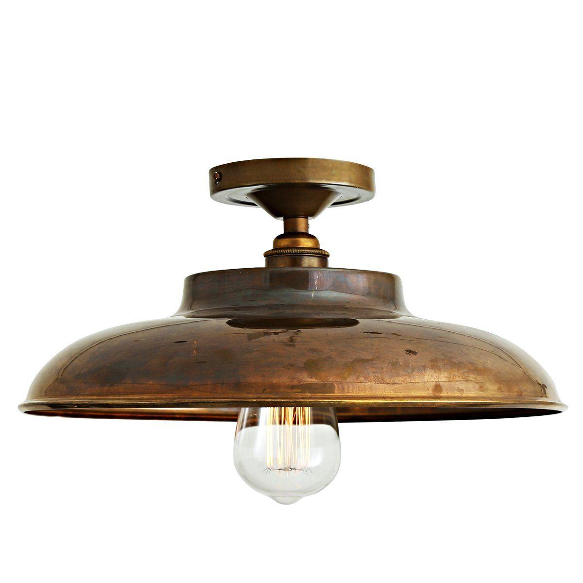 Flache Industrie Deckenleuchte Ø 32 Cm Von Aire Lighting: Die Flache  Industrie Deckenlampe