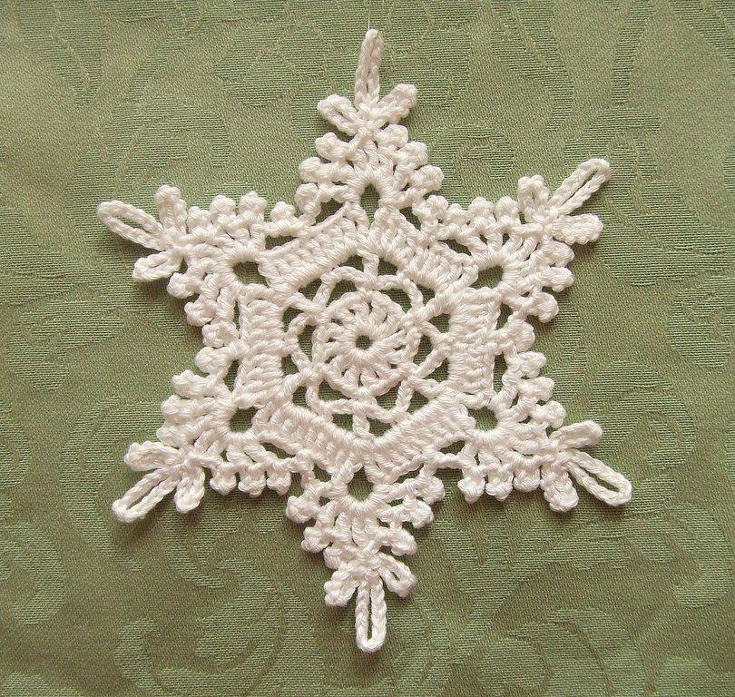 Crochet Snowflake | Navidad, Tejido y Ganchillo