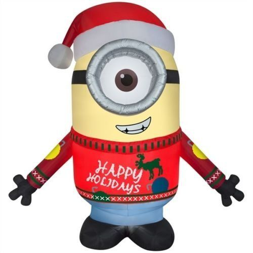 Gemmy Airblown 95\u0027 Minion Carl Merry Christmas Inflatable Indoor - inflatable christmas yard decorations