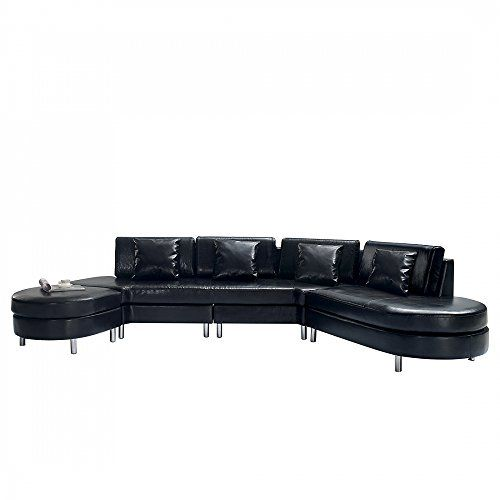 Strange Luxurious Leather Sectional Sofa Copenhagen Black Beliani Gmtry Best Dining Table And Chair Ideas Images Gmtryco