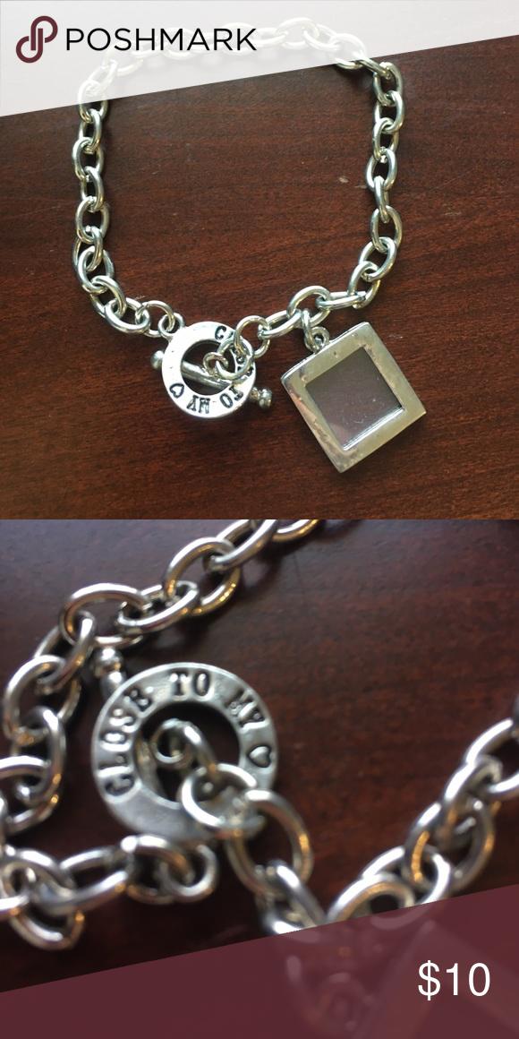 Mini Picture Frame Charm Bracelet Mini Picture Frame Charm Bracelet