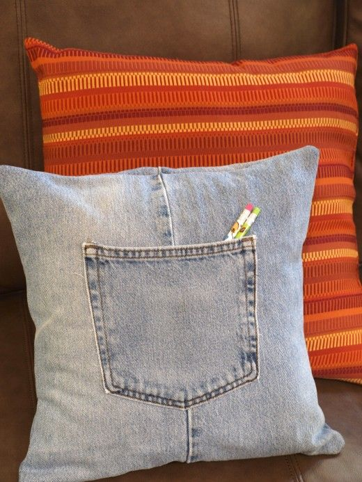 How To Make A Throw Pillow Cover With Recycled Jeans
