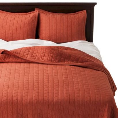 Threshold Vintage Washed Quilt Cinnamon Cake Pair With