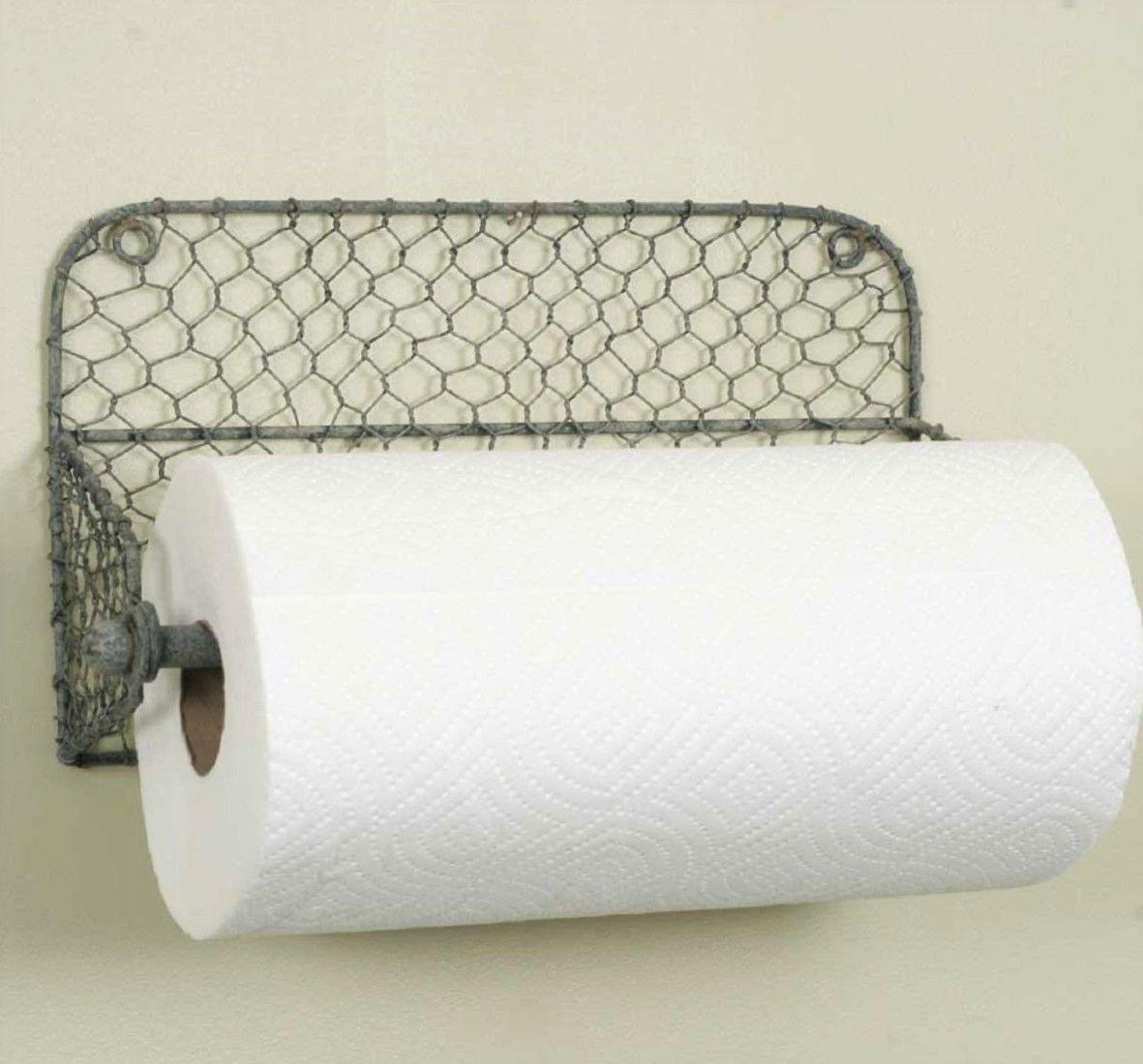 Rustic Farmhouse Wall Mount Paper Towel Holder Paper Towel Holder Towel Holder Farmhouse Kitchen Decor