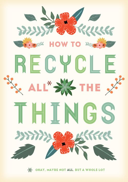 What, how and where to recycle lots and lots of stuff Plus links to