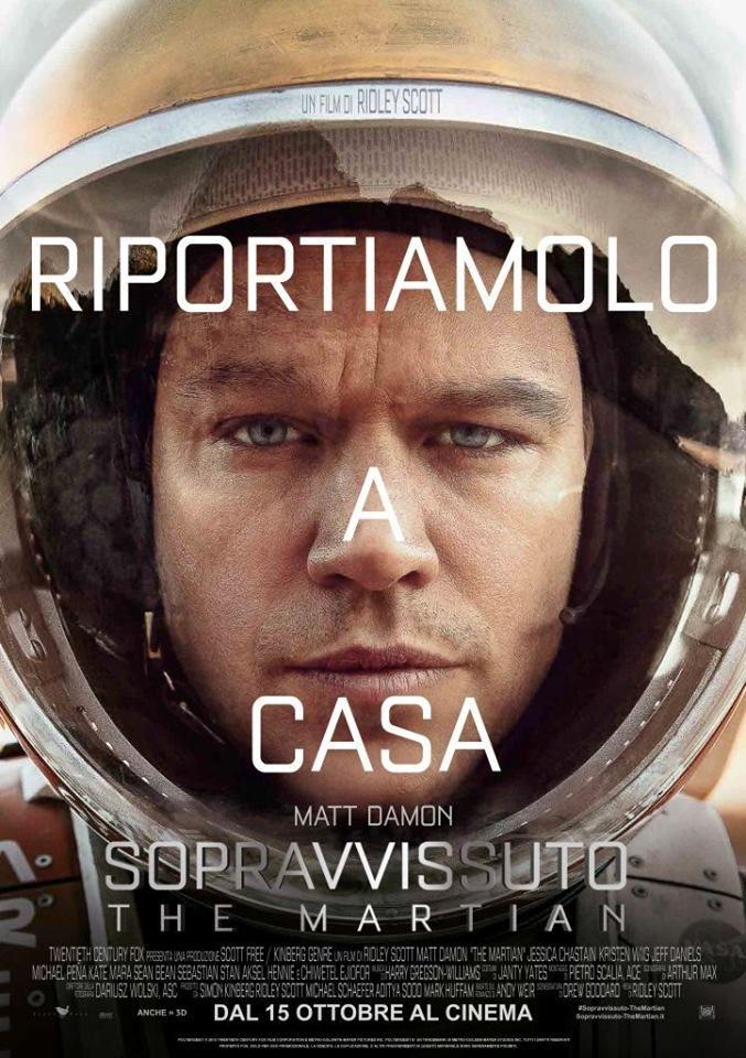 The Martian. Italian poster