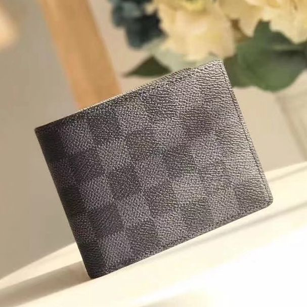 d0a2fb3b5a94 Louis Vuitton Damier Graphite Canvas Multiple Wallet N62663