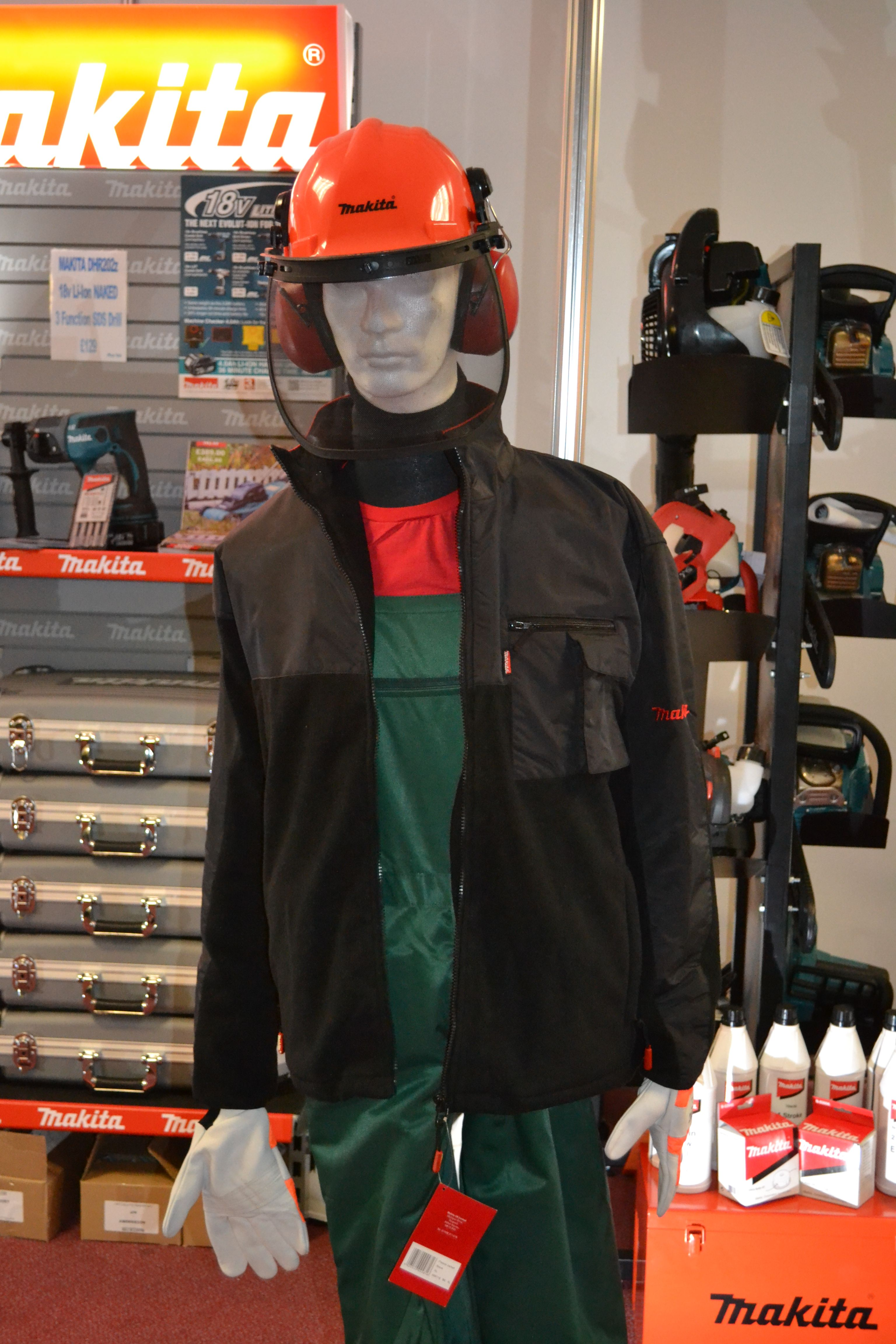 Makita safety equipment on display at LandScape Live 2014