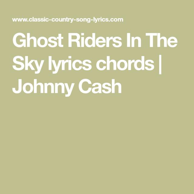 Ghost Riders In The Sky lyrics chords | Johnny Cash | Guitar ...