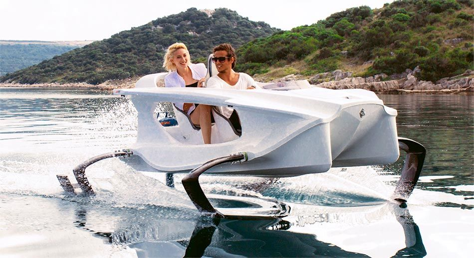 Quadrofoil: Airborne on Water, and Electric to Boot
