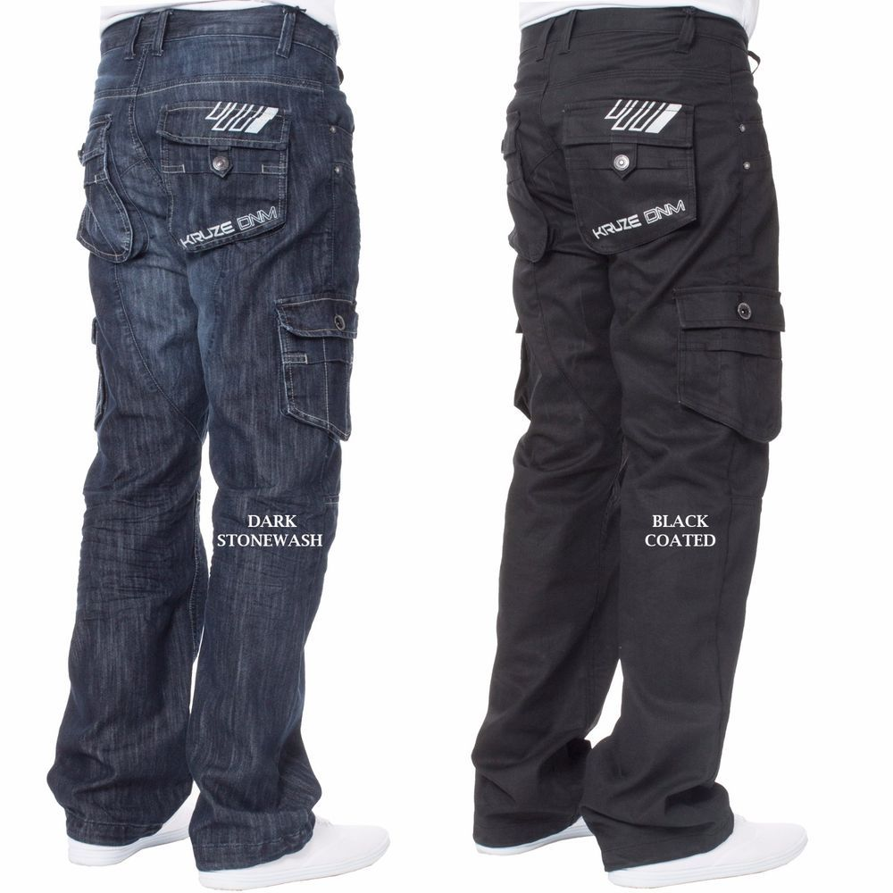Mens Jeans Denim Pants Casual Cargo Combat Work Pants Tactical Trousers Slacks