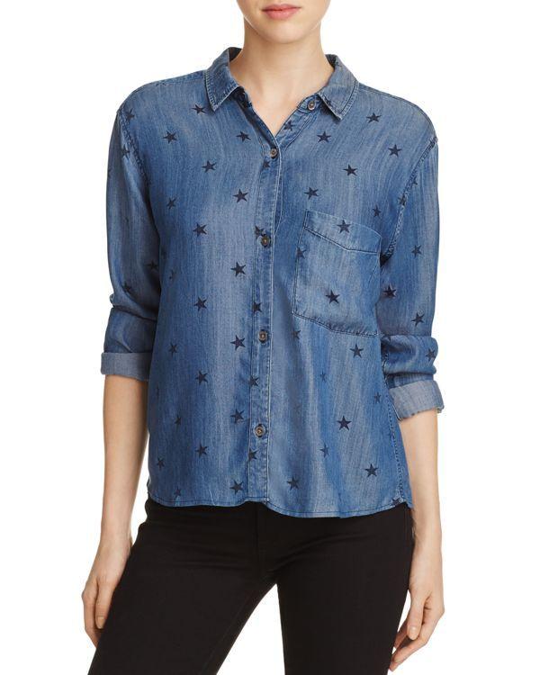 Rails Chambray Star Print Shirt