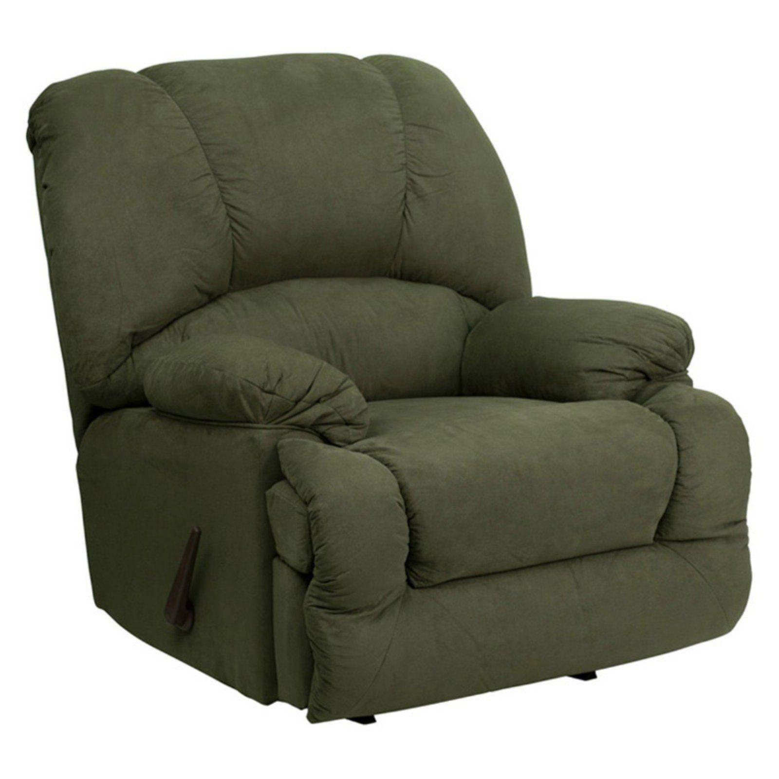 Flash Furniture Glacier Microfiber Rocker Recliner Olive Recliner Rocker Recliners Flash Furniture