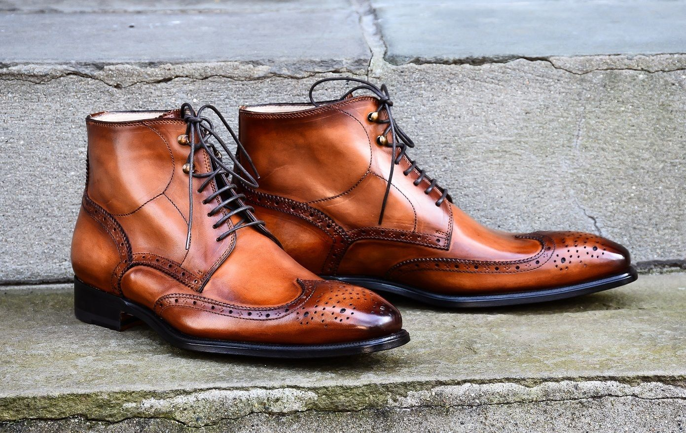 Classic Brogues Designer Leather boots