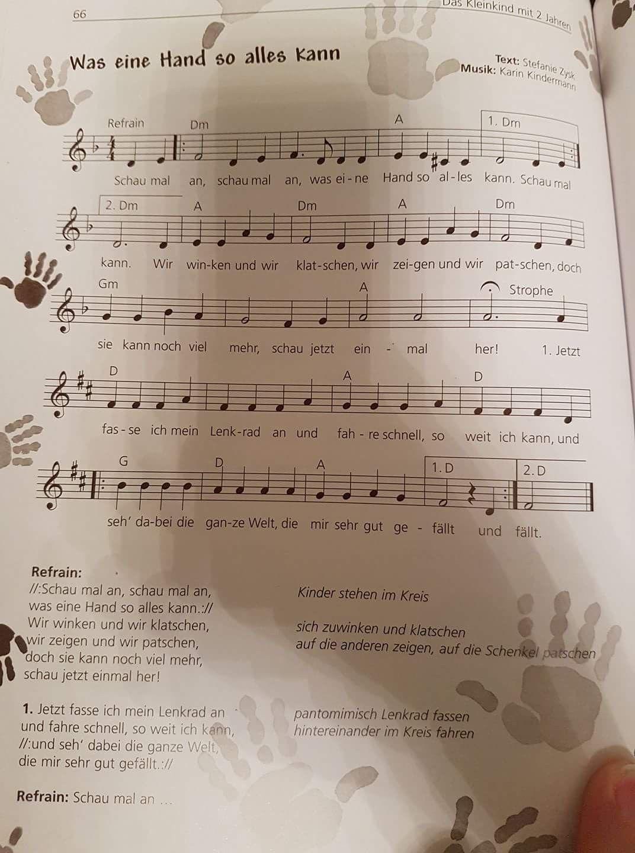 Lied singen Kindergarten Grundschule Schule, Hand Körperteile ...