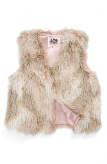 cdf045003 Faux Fur Vest for girls. Baby glam. Juicy Couture.