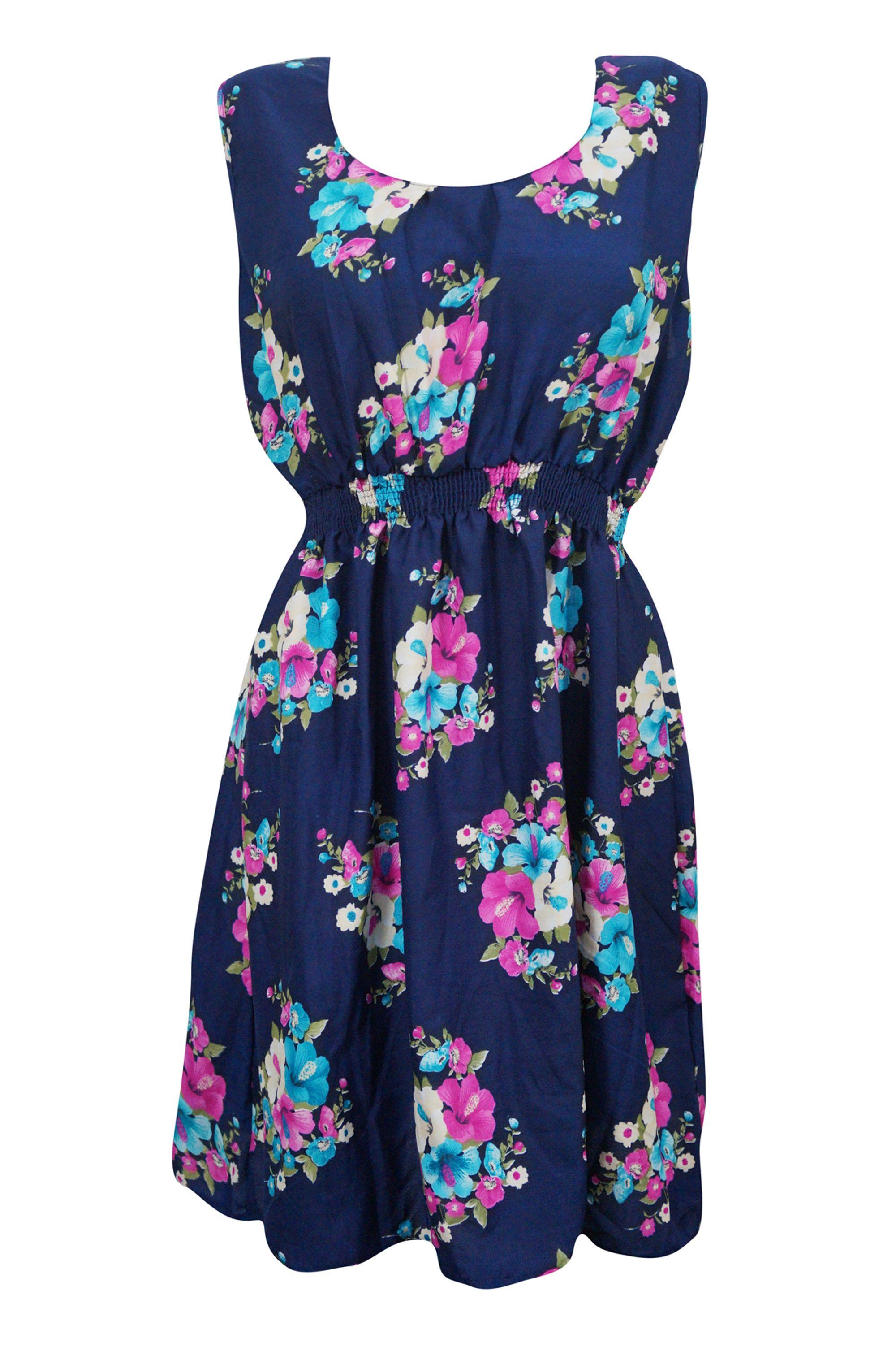 Mogul Interior Mogul Womens Blue Sundress Floral Print Sleeveless Casual Dresses Walmart Com Blue Dress Women Casual Dresses Street Style Dress [ 3005 x 2000 Pixel ]