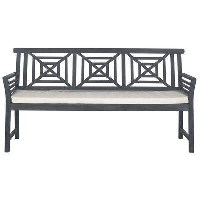 Black Cross Back 3 Seater Metal Garden Bench